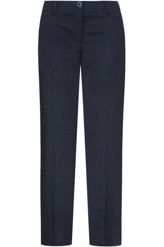 Loro Piana - Navy Wool Pindot Pants