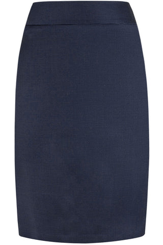 Loro Piana - Navy Wool Pindot Skirt