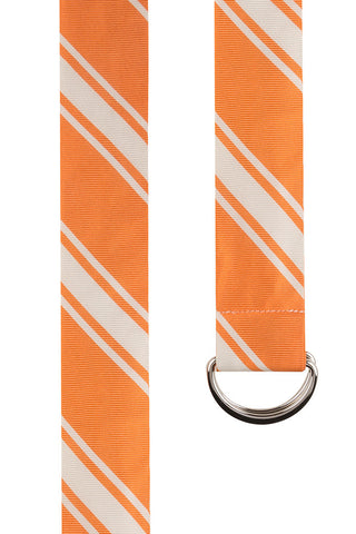 Orange Twill with Multi Stripe Silk Belt