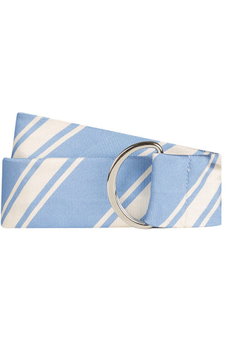 Light Blue Twill with Multi Stripe Silk Belt