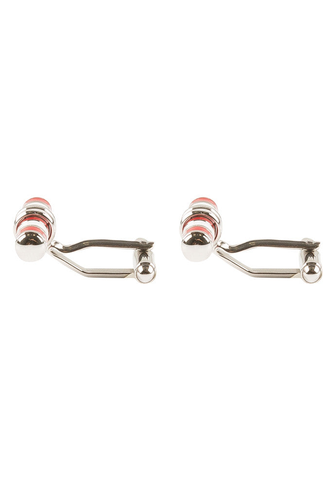 Red and White Bar Cufflinks