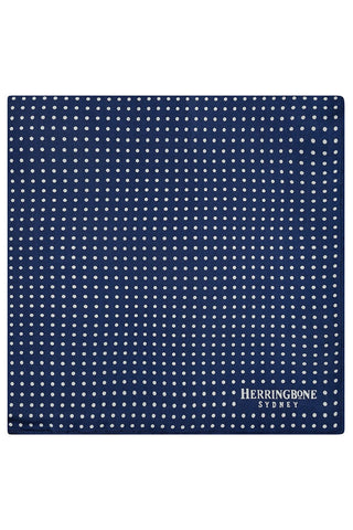 Navy Vario Motif Pocket Square