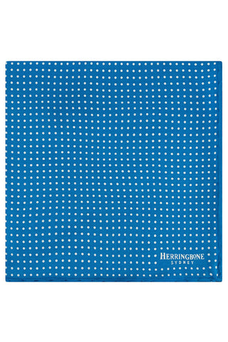 Cobalt vario motif Pocket Square