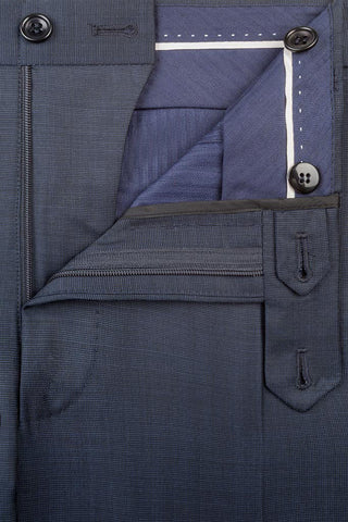 Navy End on End Trousers