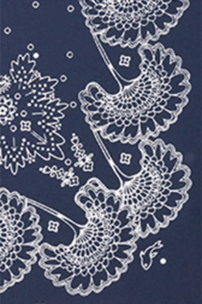 Ink Paisley Pocket Square