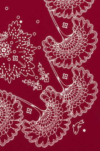 Ruby Paisley Pocket Square