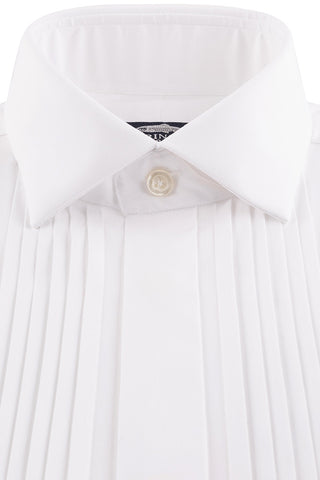 Poplin Dinner Shirt with Real Pleats