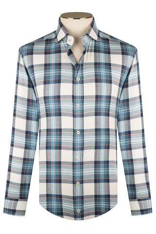 Notte, Azzuro and White Flannel Check