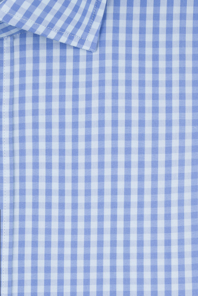 Blue and Sky Gingham Check