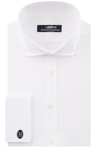 White Poplin with Double Cuffs