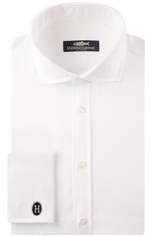 White Luxury Dot Shirt