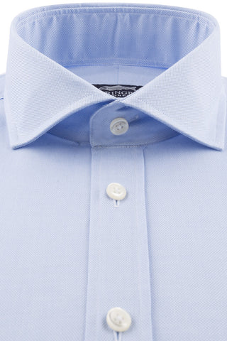 Royal Blue Oxford with Semi Cut-Away Collar