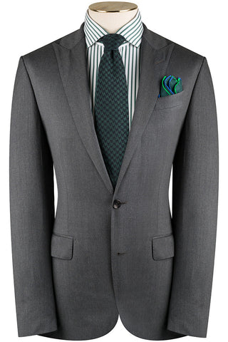 Mid Grey Twill Suit
