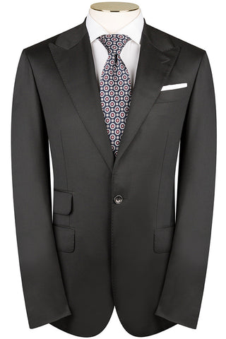 Loro Piana - Black Luxury Twill Suit
