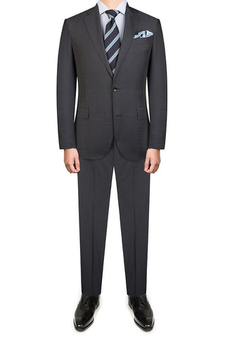 Navy Rustic Check Suit