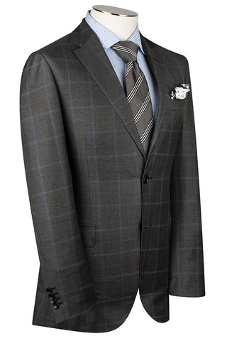 Charcoal and Vault Windowpane Suit