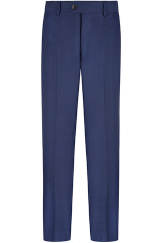 Blue Sharkskin Trousers