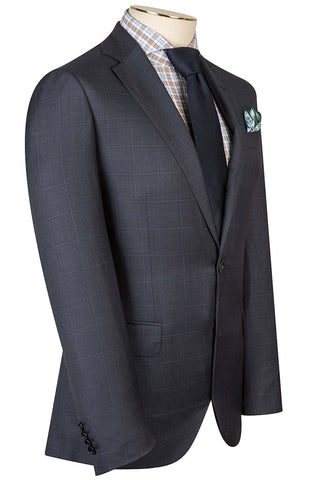 Royal Blue with Overcheck Suit
