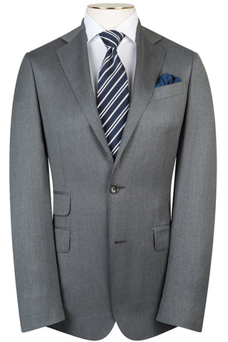 Loro Piana - Luxury Grey Twill Suit