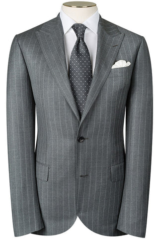 Light Grey Pin Stripe Suit