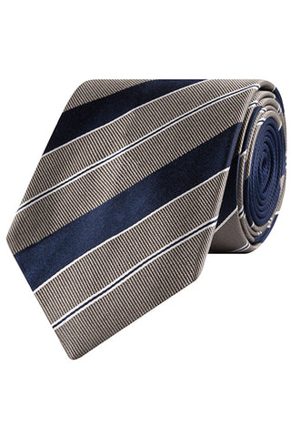 Steel and Caspian Club Stripe