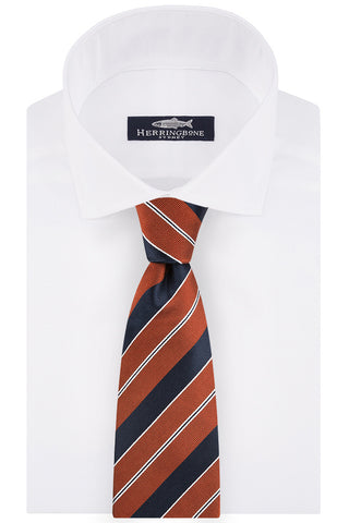 Tangerine and Ink Club Stripe