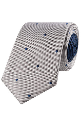 designer ties men edhz  Rhodium and Ink Dot