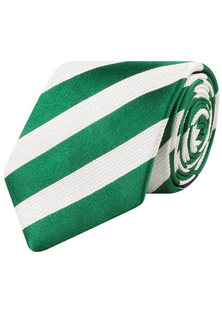 Green and White Bold Stripe