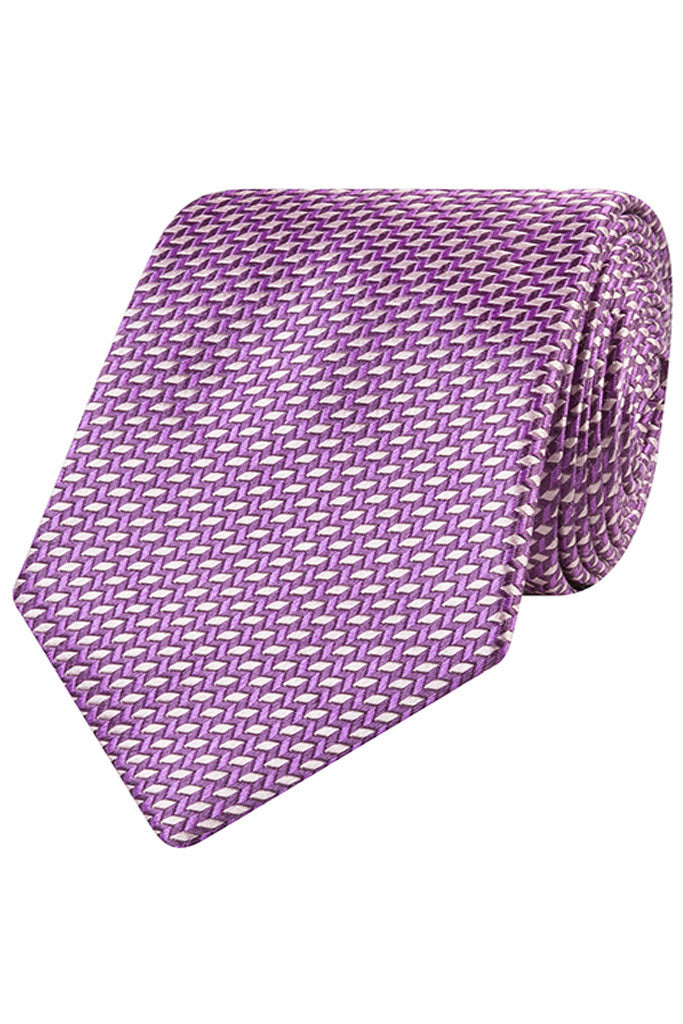 Purple with Geometric Motif