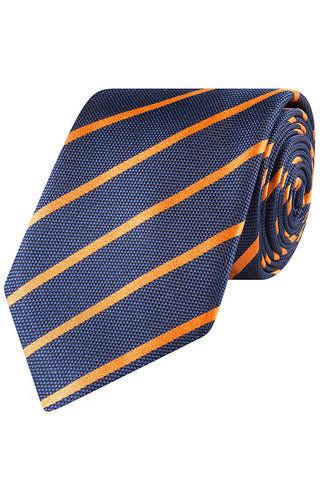 Caspian and Tangerine Stripe