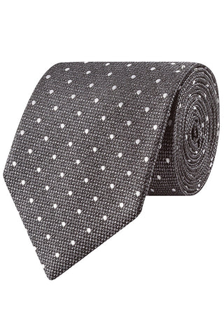 Steel textured Dot Tie