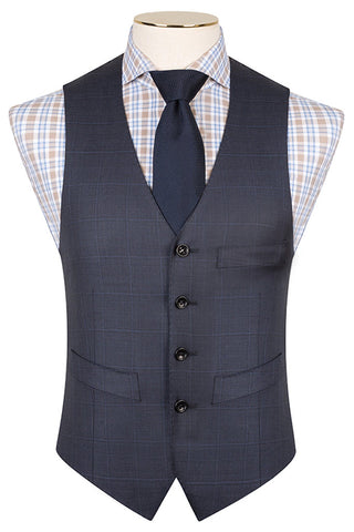 Royal Blue with Overcheck Waistcoat