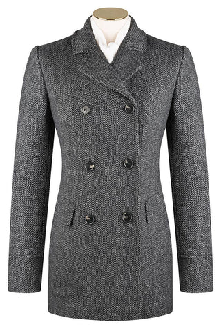 Charcoal Salt and Pepper Coat
