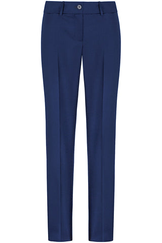 Royal Blue Wool Mohair Pants