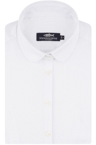 White Cotton Textured