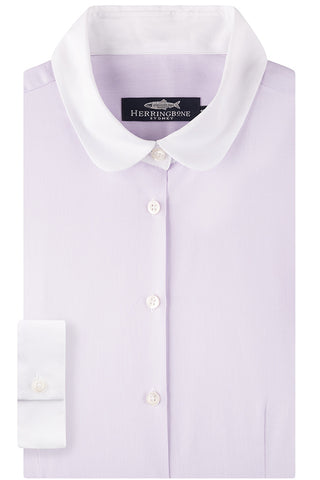 Lilac Butterfly Twill Shirt