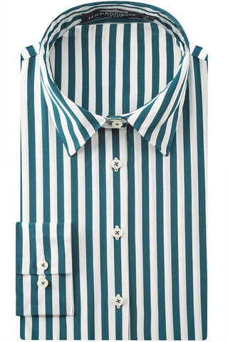 Ocean Silk Stripe Blouse