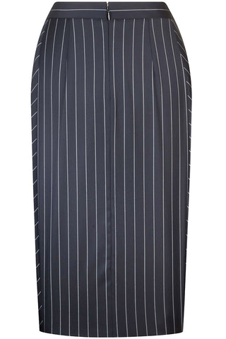 Navy Bold Stripe Skirt