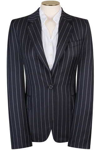 Navy Bold Stripe Jacket