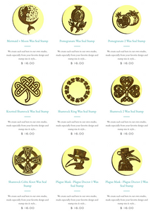NEW!  Wax Stamp Designs + Products