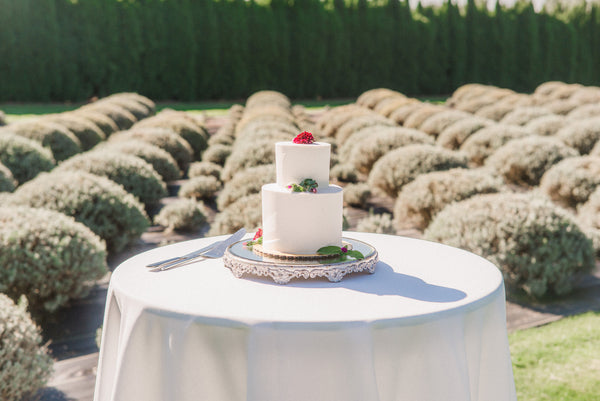 wedding cake lavender fields