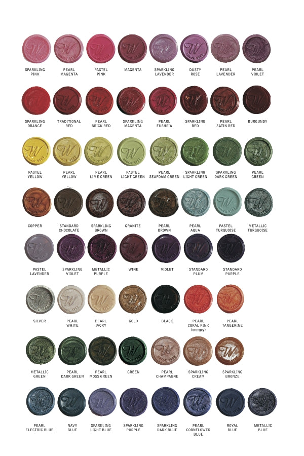 waterstons sealing wax color chart