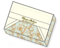 Baroque flower note cards rossi1931 letterseals.com