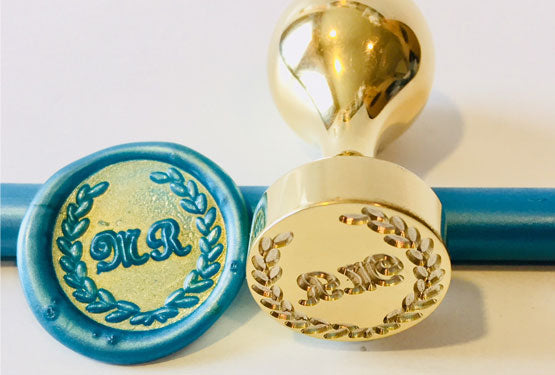 Monogram wax seal stamps