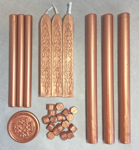 Rose Gold Sealing Wax Sticks Beads LetterSeals.com
