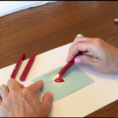 How to use wick style sealing wax letterseals.com
