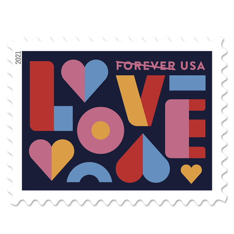 Love Forever 1st Class Postage Stamps