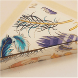 Feather Pattern Stationery | Rossi 1931 Italian Stationery-LetterSeals.com