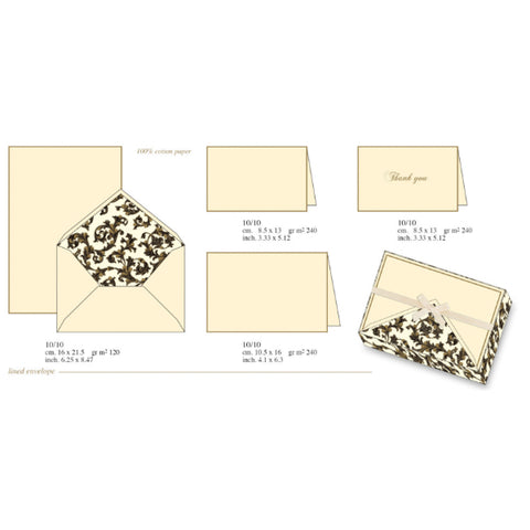 Gilded Black Classic Florentine Pattern | Rossi 1931 Italian Stationery