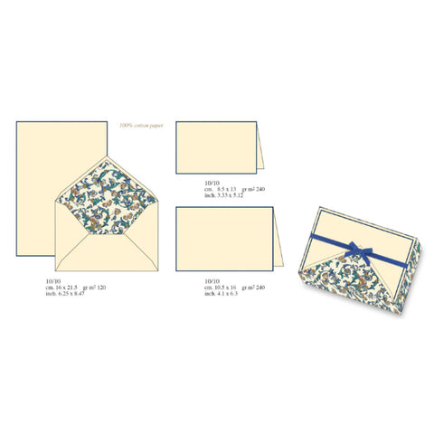 Butterfly Classic Florentine Pattern | Rossi 1931 Italian Stationery